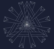 Sacred Geometry - T-Shirt/Hoodie - White Design One Piece - Long Sleeve
