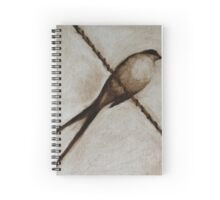 Bird on a wire painting Spiral Notebook