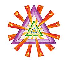 Sacred Geometry - Full-Color Card by TheMandalaLady