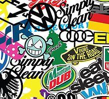 VW Sticker Bomb #wc2 by Tony  Bazidlo