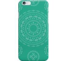 Monogram Pattern (E) in Emerald iPhone Case/Skin