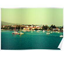 Jamaica-Marina-retro Poster