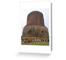 Korean Pilgrams at Sarnath India Greeting Card