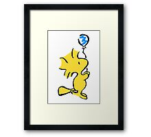 Woodstock with balloons Framed Print