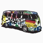 VW STICKER BOMB BUS by thatstickerguy