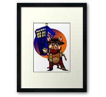 Doctor Who Hamster Jelly baby? Framed Print