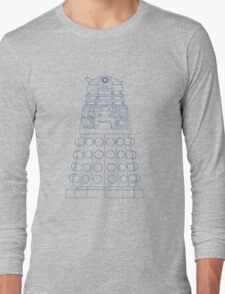Dalek Blueprint Long Sleeve T-Shirt