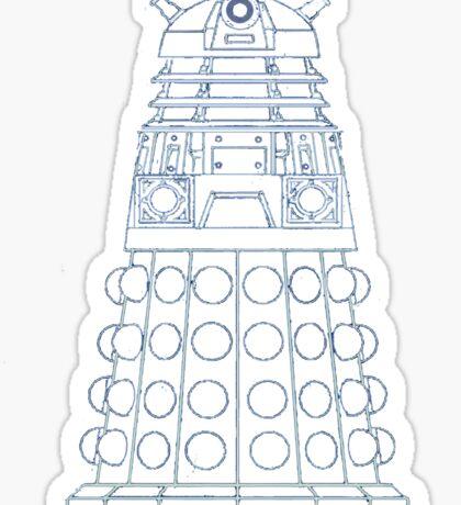 Dalek Blueprint Sticker