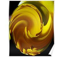 Yellow Twist Poster