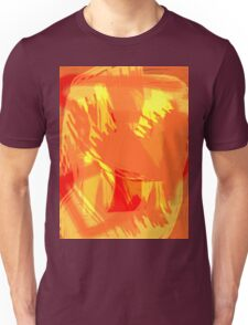 Abstract brush face - orange Unisex T-Shirt