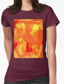Abstract brush face - orange T-Shirt