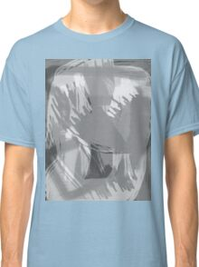 Abstract brush face - grey Classic T-Shirt