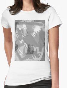 Abstract brush face - grey T-Shirt