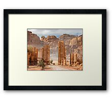 Temenos Gateway in Petra, Jordan Framed Print