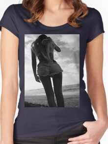 Black and white babe Women's Fitted Scoop T-Shirt