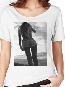 Black and white babe Women's Relaxed Fit T-Shirt