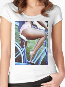 Bicycle babe Women's Fitted Scoop T-Shirt