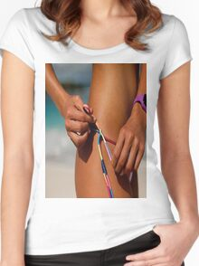 Bikini babe Women's Fitted Scoop T-Shirt