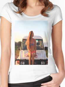 Hot girl Women's Fitted Scoop T-Shirt