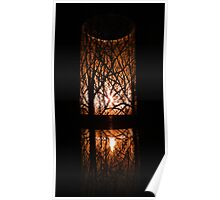 Glowing Reflection Poster