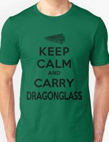 Keep Calm: Dragonglass (Black) Unisex T-Shirt