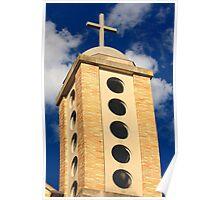 Greek O Church's tower Poster