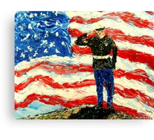 So Proudly They Hailed  Canvas Print