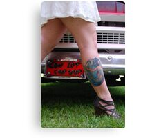 Vanity tag and tattoo Canvas Print