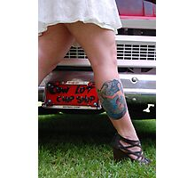 Vanity tag and tattoo Photographic Print