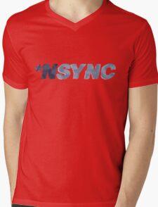Nsync - weathered logo Mens V-Neck T-Shirt