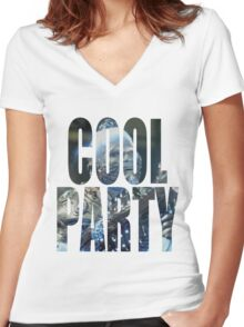 Cool Party Women's Fitted V-Neck T-Shirt