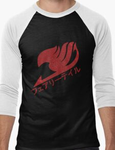 Dragon-Scale Fairy Tail Logo Men's Baseball ¾ T-Shirt