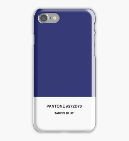 Tardis Blue Pantone iPhone Case/Skin