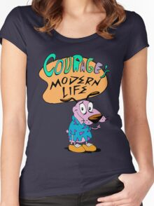 Courage's Modern Life Women's Fitted Scoop T-Shirt