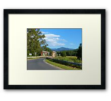 Country scene - tilt shifted Framed Print
