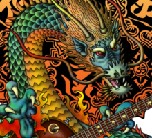 Dragon guitar  Sticker