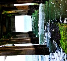 Under the board Walk down by the sea  by Rob-Yates