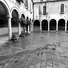 The Cloister of Santa Pietro by hans p olsen