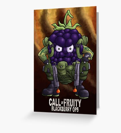 Call of Fruity Greeting Card