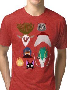 Ghibli characters ~ 2 Tri-blend T-Shirt