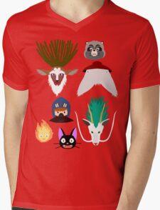 Ghibli characters ~ 2 Mens V-Neck T-Shirt