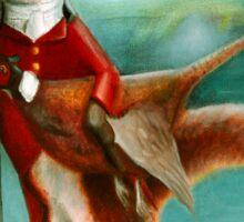 Fox at Moonlit Manor Sticker
