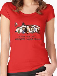 You're the Last Airbender, Charlie Brown! Women's Fitted Scoop T-Shirt