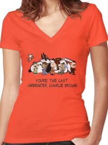 You're the Last Airbender, Charlie Brown! Women's Fitted V-Neck T-Shirt
