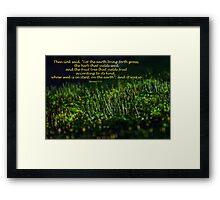 Genesis 1:11 (day 10) Framed Print