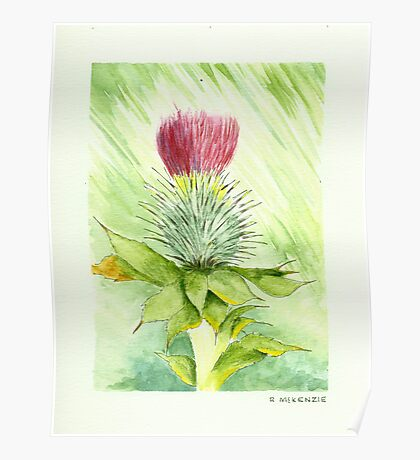 """""""Thistle No 2"""" Poster"""
