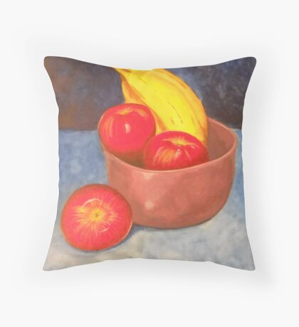 """Apples and Bananas""  Throw Pillow"