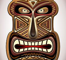 Africa Ethnic Mask Totem by BluedarkArt