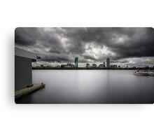 cloudy boston Canvas Print
