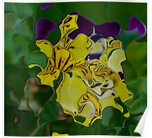 Pansy Abstract Poster